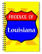 Produce Of Louisiana Shield Spiral Notebook