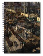 Production Of Tanks Spiral Notebook