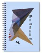 Profile M. Text Spiral Notebook