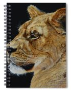 Profile Of A Lioness Spiral Notebook
