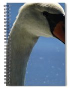 Profile Of A Swan Spiral Notebook