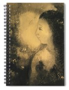 Profile Of A Woman With Flowers Spiral Notebook