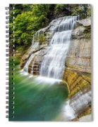 Profile Of The Lower Falls At Enfield Glen Spiral Notebook