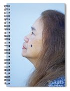 Profile Portrait Of A Lovely Filipina With A Mole On Her Cheek   Spiral Notebook