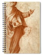 Profile Study Of A Standing Saint Holding A Book With Subsidiary Studies Of Three Additional Figures Spiral Notebook