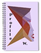 Profile W. Text Spiral Notebook