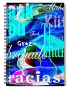 Profound Thought Celebrate Life Pink Spiral Notebook