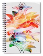 Profound Thought Cross And Roses Spiral Notebook