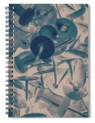 Projected Abstract Blue Thumbtacks Background Spiral Notebook
