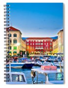 Prokurative Square In Split Evening Colorful View Spiral Notebook
