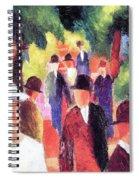 Promenade II By August Macke Spiral Notebook