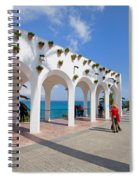 Promenade In Nerja Spiral Notebook
