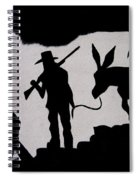 Prospector And Mule  In Metal Tombstone Arizona 2004-2014 Spiral Notebook