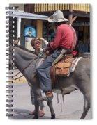 Prospector Re-enactor With Fan Allen Street Tombstone Arizona 200 Spiral Notebook