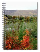 Prosser Autumn River With Hills Spiral Notebook