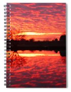 Dramatic Orange Sunset Spiral Notebook