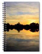 Prosser Sunset - Blue And Gold Spiral Notebook