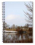 Prosser Winter - Brown And Burgundy Spiral Notebook
