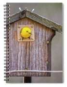 Prothonotary Warbler House Spiral Notebook