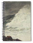 Prouts Neck Breaking Wave Spiral Notebook