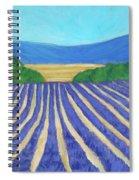 Provence Lavender Field Spiral Notebook