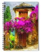 Provence Street Spiral Notebook
