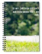 Proverbs 22 6 Spiral Notebook