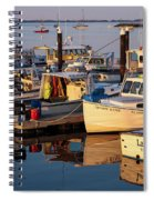 Provincetown Fishing Boats, Ptown, Ma Spiral Notebook