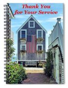 Provincetown Patriot By Sharon Eng Spiral Notebook