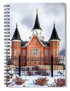 Provo City Center Temple Lds Large Canvas Art, Canvas Print, Large Art, Large Wall Decor, Home Decor Spiral Notebook