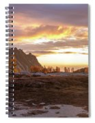 Prusik Peak Golden Cloudscape Spiral Notebook