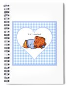 Ps I Love You - Boy Bear Spiral Notebook
