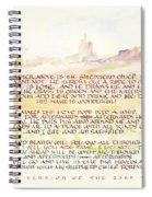 Psalm 23 Navajo Version  Spiral Notebook