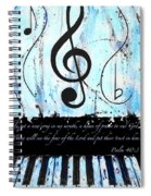 Psalm 40/3 Blue Spiral Notebook