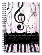 Psalm 40/3 Purple Spiral Notebook
