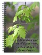 Psalm 96 12 Be Joyful Spiral Notebook