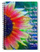 Psalms 92 1 2 Spiral Notebook