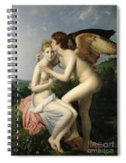 Psyche Receiving The First Kiss Of Cupid Spiral Notebook