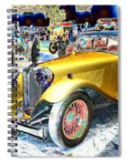 Psychedelic 1930 Jaguar Ss1 At London Classic Car Show 2015 Spiral Notebook