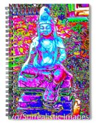 Psychedelic Buddha Spiral Notebook