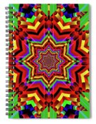 Psychedelic Construct Spiral Notebook