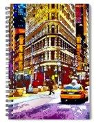 Psychedelic Flatiron Surroundings Spiral Notebook