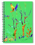 Psychedelic Forest Spiral Notebook