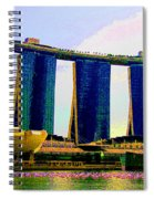 Psychedelic Marina Bay Sands Hotel Singapore Spiral Notebook