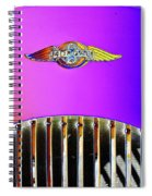 Psychedelic Morgan 4/4 Badge And Radiator Spiral Notebook