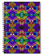 Psychedelic Pattern Blue Spiral Notebook