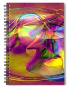 Psychedelic Sun Spiral Notebook