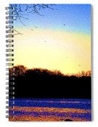 Psychedelic Sunrise On The Delaware River Spiral Notebook