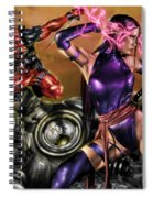 Psylocke And Deadpool Spiral Notebook