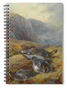 Ptarmigan Danger Aloft By Thorburn Spiral Notebook